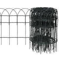 vidaXL Garden Border Fence Powder-coated Iron 10x0.4 m