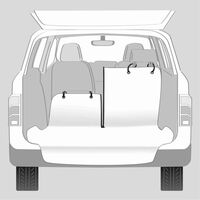 TRIXIE Car Boot Cover with Bumper Guard Beige and Black