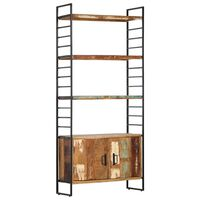 vidaXL 4-Tier Bookcase 80x30x180 cm Solid Reclaimed Wood