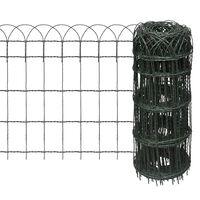 vidaXL Garden Border Fence Powder-coated Iron 25x0.65 m