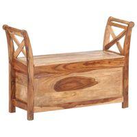 vidaXL Bench 103x33x72 cm Solid Sheesham Wood
