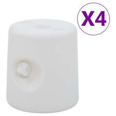 vidaXL Gazebo Weights 4 pcs PE White