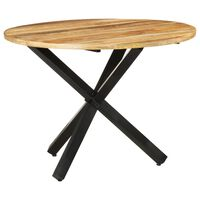 vidaXL Dining Table Round 100x100x75 cm Rough Mango Wood