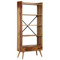 vidaXL Bookshelf Solid Sheesham Wood 75x30x170 cm