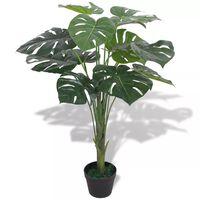 vidaXL Artificial Monstera Plant with Pot 70 cm Green