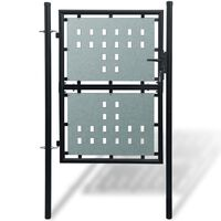 Black Single Door Fence Gate 100 x 225 cm
