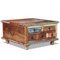 vidaXL Coffee Table Reclaimed Wood 70x70x38 cm