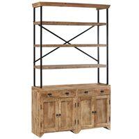 vidaXL Sideboard with Shelves Solid Mango Wood 120x35x200 cm