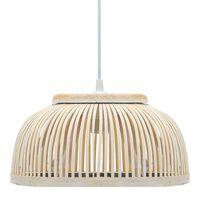 vidaXL Pendant Lamp Bamboo 40 W 34x14.5 cm Semicircle E27