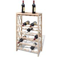 vidaXL Wine Rack for 25 Bottles Solid Fir Wood