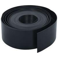 vidaXL Garden Edging Black 10 m 10 cm PE