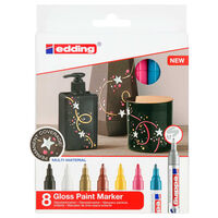 edding Gloss Paint Marker 8 pcs Multicolour 750