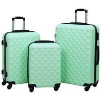 vidaXL Hardcase Trolley Set 3 pcs Mint ABS