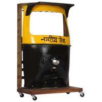 vidaXL Rickshaw Wine Cabinet 100x60x172 cm Solid Reclaimed Wood