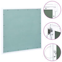 vidaXL Access Panel with Aluminium Frame and Plasterboard 600x600 mm
