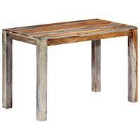 vidaXL Dining Table Grey 118x60x76 cm Solid Sheesham Wood