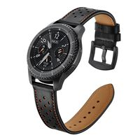 Samsung Gear S3 Watch Band 22mm, Leather Wrist Band with Stainless Ste