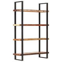 vidaXL 4-Tier Bookcase 120x40x180 cm Solid Reclaimed Wood