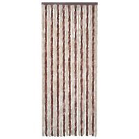 vidaXL Insect Curtain Beige and Light Brown 56x200 cm Chenille