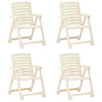 vidaXL Garden Chairs 4 pcs Plastic White