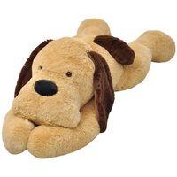 vidaXL Dog Cuddly Toy Plush Brown 80 cm