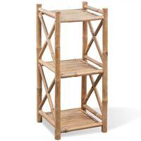 3-Tier Square Bamboo Shelf