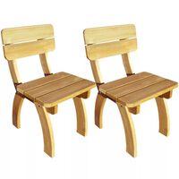 vidaXL Garden Chairs 2 pcs Impregnated Pinewood