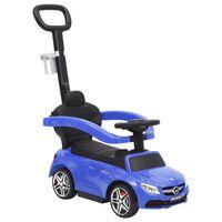 vidaXL Push Walk Car Mercedes-Benz C63 Blue
