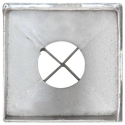 vidaXL Ground Spikes 6 pcs Silver 8x8x91 cm Galvanised Steel