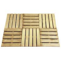 vidaXL Decking Tiles 6 pcs 50x50 cm Wood Green