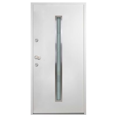 vidaXL Aluminium Front Door White 90x200 cm