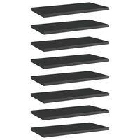 vidaXL Bookshelf Boards 8 pcs High Gloss Black 40x20x1.5 cm Chipboard