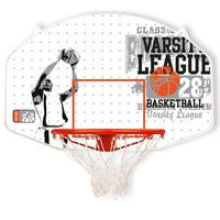 New Port Basketball Backboard with Ring Fibreglass 16NY-WGO-Uni