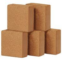 vidaXL Coir Blocks 5 pcs 5 kg 30x30x10 cm