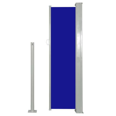 vidaXL Retractable Side Awning 120 x 300 cm Blue