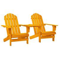 vidaXL Garden Adirondack Chair Solid Fir Wood Orange