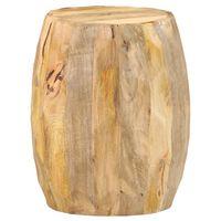 vidaXL Drum Stool Solid Mango Wood