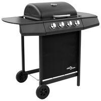 vidaXL Gas BBQ Grill with 4 Burners Black