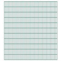 vidaXL 2D Garden Fence Panels 2.008x2.23 m 4 m (Total Length) Green