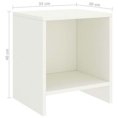 vidaXL Bedside Cabinet White 35x30x40 cm Solid Pinewood