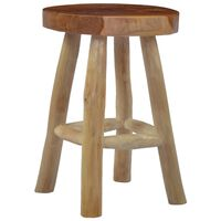 vidaXL Stool Brown Teak Wood