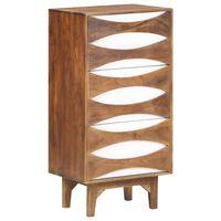 vidaXL Chest of Drawers 44x35x90 cm Solid Acacia Wood
