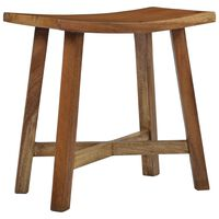 vidaXL Bathroom Stool Solid Suar Wood
