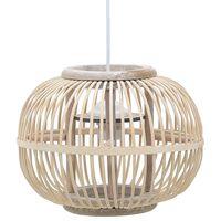vidaXL Pendant Lamp White Willow 40 W 30x22 cm Globe E27