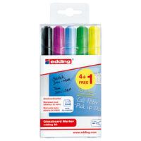 edding Glassboard Marker 5pcs Multicolour 90