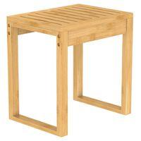 EISL Bathroom Stool Bamboo 40x30x45 cm