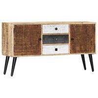 vidaXL Sideboard 118x30x62 cm Solid Mango Wood