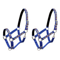 vidaXL Head Collars 2 pcs for Horse Nylon Size Full Blue