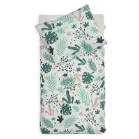 Jollein Duvet Cover with Pillowcase Leaves 100x140 cm Green