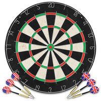 vidaXL Professional Dart Set with Dartboard Sisal Steel